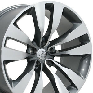 20 Chrysler 300 Srt8 Wheels Dodge Charger Chall Staggered Rims Mach Gray 9 10
