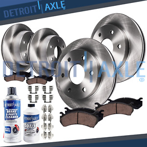 Ceramic Brake Pads And Rotors Front Rear Chevy Silverado Tahoe Gmc Sierra Yukon