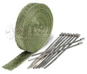 Titanium Exhaust Pipe Heat Wrap 1 X 50 Motorcycle Header Insulation