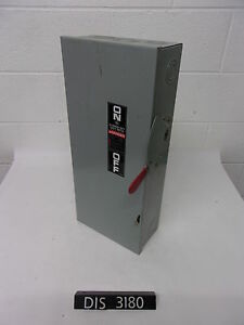 New Other Ge 240 Volt 100 Amp Non Fused Disconnect Safety Switch dis3180