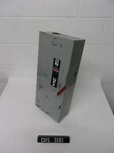 Ge 240 Volt 100 Amp Fused Disconnect Safety Switch dis3181