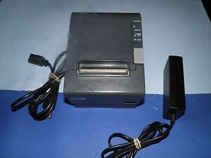 Epson Tm t88iv M129h Thermal Pos Receipt Printer W Power Supply Serial