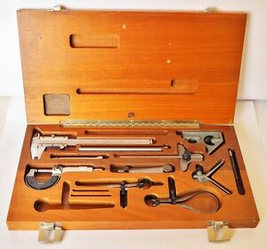 12 Piece Shop Class Inspection Measuring Tools Kit