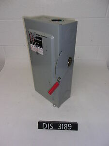 Eaton 240 Volt 100 Amp Fused Disconnect Safety Switch dis3189