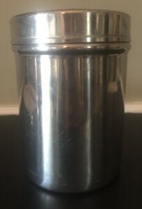 Vtg Polar Stainless Steel Canister Lid Apothecary Jar Medical Doctor Tattoo