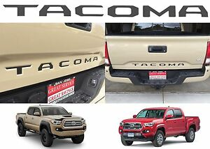 Matte Black Vinyl Tailgate Inserts For 2016 2018 Toyota Tacoma New Free Shipping