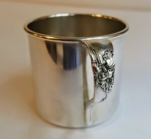 White Orchid Childs Or Baby Cup Or Mug Oneida Community Silverplate