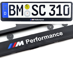 License Plates For Bmw Frames Euro Standart Car With Performance Logo 1 Pcs
