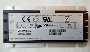 Vicor Ve 2w3 Cv Isolated Dc Dc Converter Mod 24 Vdc 200 W In 24 Vdc 150 W Out