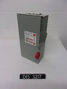 New Other Eaton 240 Volt 30 Amp Fused Disconnect Safety Switch dis3217