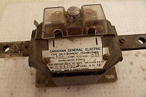 General Electric Current Transformer Ratio 400 5 Type Cm 02 8508 1011 6kv 600v
