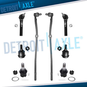 8pc Drag Link Upper Lower Ball Joint Tie Rods 03 08 Dodge Ram 2500 3500 4wd