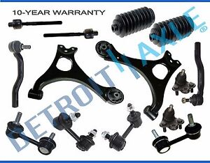 2006 2011 Honda Civic Lower Control Arm Ball Joint Sway Bar Tierod Kit Non Si