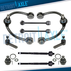 10pc Front Suspension Upper Control Arms Kit 05 10 Jeep Grand Cherokee Commander