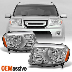 Fits 09 10 11 Honda Pilot Headlights Lamps Replacement Left Right 2009 2011