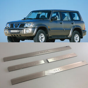 Door Sill Scuff Plate Guards Sills For Nissan Patrol Y61 1997 2008 Threshold