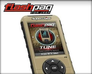 Superchips Flashpaq Handheld Tuner For 1998 2006 Jeep Wrangler Jk 4 0l 24 Hp