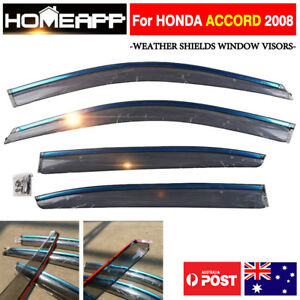 Weather Shields Window Visor For Honda Accord 2008 4 Doors 3m Double Sided Tape