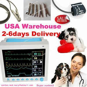 Fda Usa Fedex Cms8000 Veterinary Vet Patient Monitor ecg nibp spo2 resp temp pr