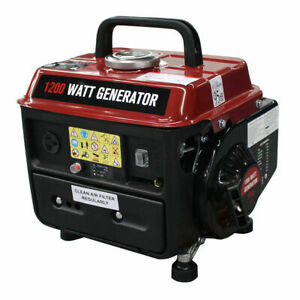 1200w Gasoline Generator 2 Stroke 63cc Single Cylinder Gas Powered Portable Epa
