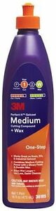 3m 36105 Perfect it Gelcoat Medium Cutting Compound Wax 1 Pt