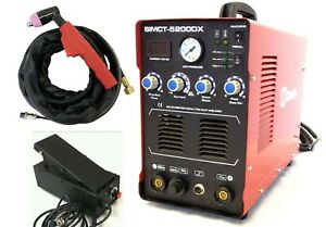 Plasma Cutter 50a Simadre 3in1 110 220v 5200dx 200a Tig Arc Mma Welder Ft Pedal
