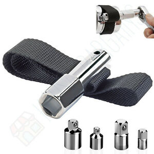Large Fuel Oil Filter Removal Wrench Strap Upto 300mm Diameter Filters Tool 4pc
