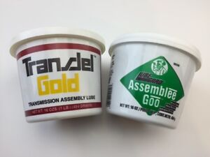 Two Tubs Of Transmission Assembly Lube 1 Transjel Gold 1 Green Lubegard