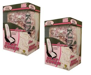 2pc King S Camo Pink Shadow Camouflage Seat Covers Universal Bucket