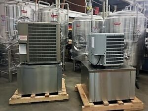New 2018 2 Ton Hp Glycol Chiller W Pump Tank Brewery Winery Beer Low Temp 28 f