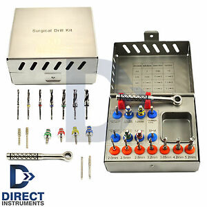 New Implant Surgical Drill Kit Drills Drivers Ratchet Dental Surgery Instruments