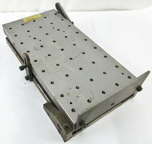 23 X 12 X 4 Sine Plate Work Holding Fixture W Tapped Holes