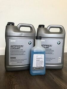 Genuine Bmw Coolant 1 Gallon pack Of 2 Gift 1 Windshield Washer Concentrate