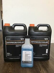 Genuine Mini Coolant 1 Gallon pack Of 2 1 Windshield Washer Concentrate