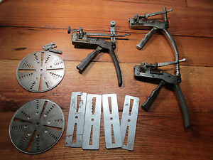 3 Vintage Curtis Key Cutters One Is Model 14 E And G Carriages 2 Dials