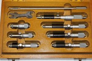 7 Nos Moore Wright Inside Micrometers Uk Made Box Set 50 150mm