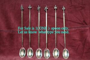 Dutch 835 Solid Silver Cocktail Iced Drinks Mixer Spoon