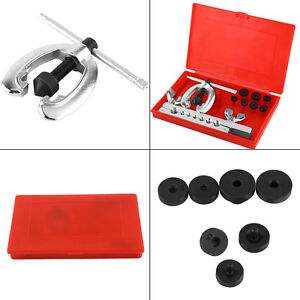 Double Flaring Tube Flare Tool Kits Set Pipe Cutter Refrigeration Expander New