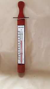 Vintage Wooden Brooder Thermometer Made In The Usa