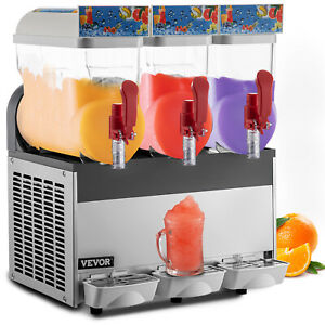 Commercial 3x15l Frozen Drink Slush Slushy Making Machine Smoothie Maker