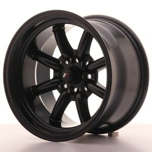 2x Japan Racing Jr19 15x9 Et 13 4x100 114 Matt Black Alloy Wheels Rs Watanabe