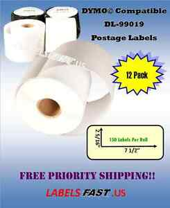 15 Rolls Paypal Usps Postage Labels Waterproof Dymo Xl Compatible Printer 99019