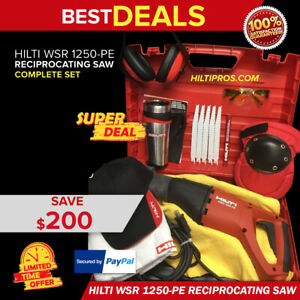 Hilti Wsr 1250 Pe Reciprocating Saw New Free Blades Mug Extras Fast Tship