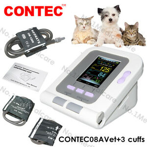 Vet Veterinary Digital Blood Pressure Monitor 3 Cuffs For Animal dog cat