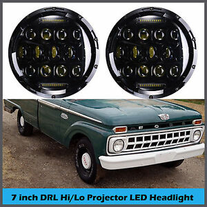 For Ford F100 1969 1979 7 Inch Vintage Car Led Headlight H4 H13 High Low Beam