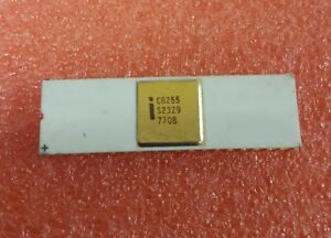 Intel C8255 White Ceramic Rare Gold Plated Vintage Ic Cpu