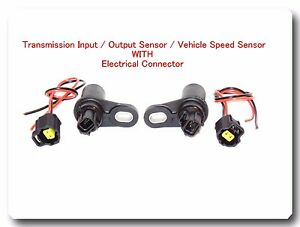 2 Pc Trans Input Output Vehicle Speed Sensor W Connector For Chrysler Dodge Jeep