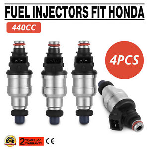 440cc High Impedance Injectors For Civic Integra Acura D B F H K R Series Vtec