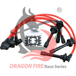New 10 2mm Dragon Fire Race Series Spark Plug Wire Set For All Honda 4 Cylinders