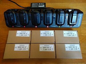 6 Refurbished Motorola Clp1010 Uhf Two way Radios With 6 Bay Charging Station